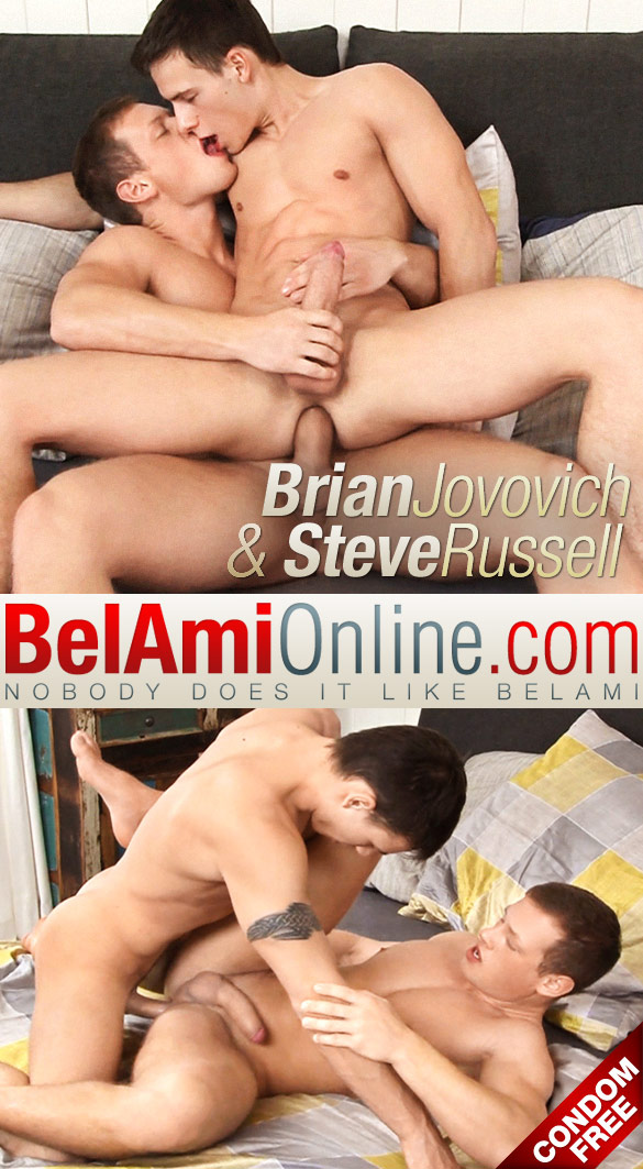 BelAmi: Steve Russell and Brian Jovovich flip fuck raw