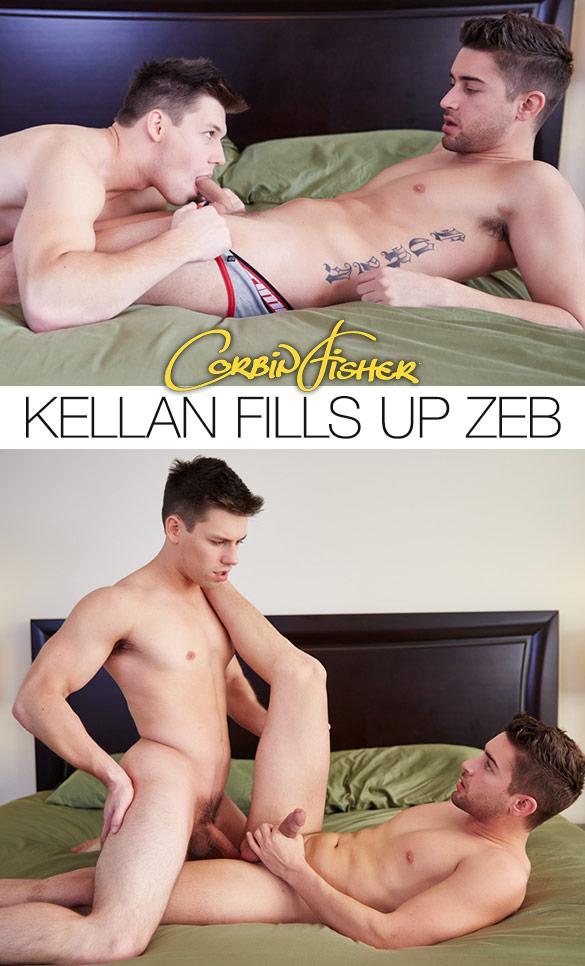 Corbin Fisher: Kellan creampies Zeb
