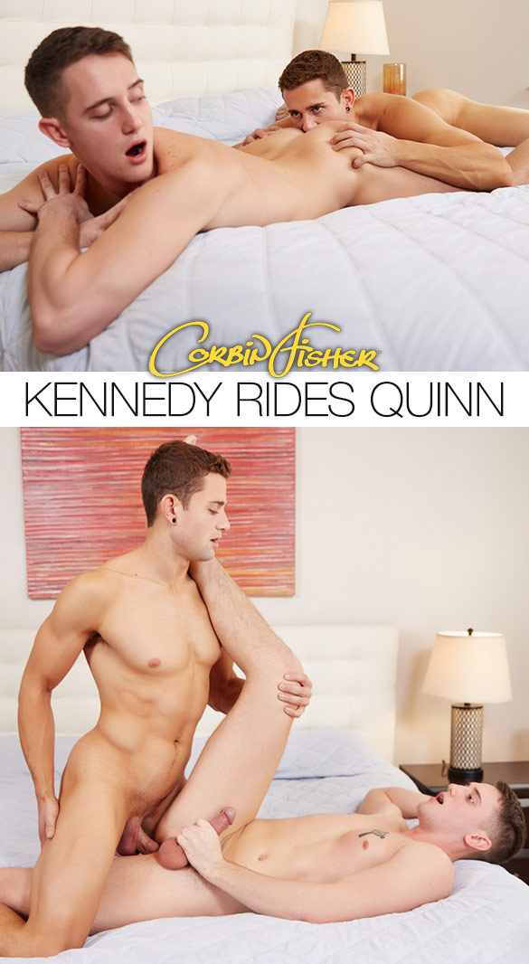 Corbin Fisher: Quinn barebacks Kennedy