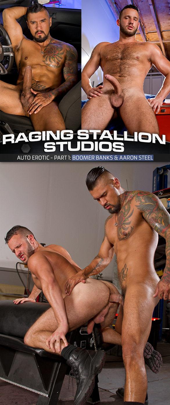 "Raging Stallion: Boomer Banks pounds Aaron Steel in ""Auto Erotic, Part 1"""
