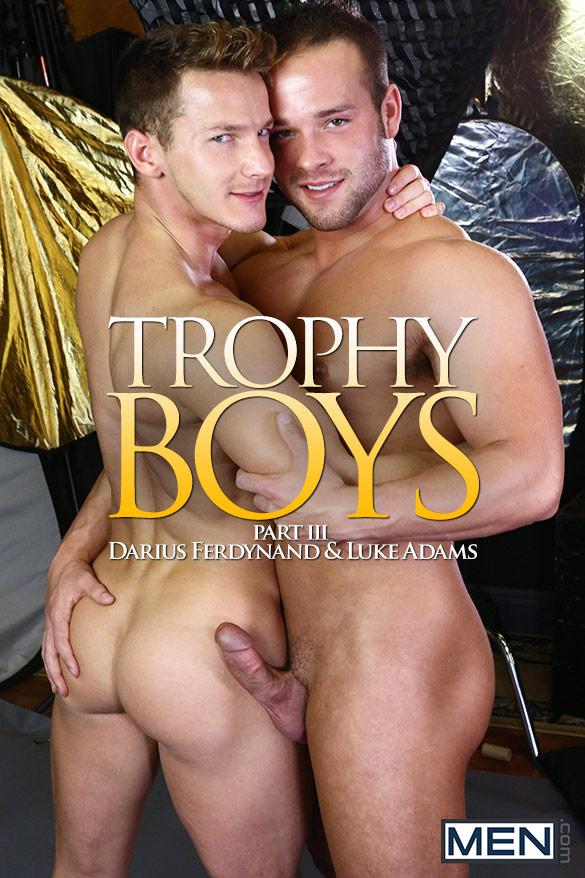 """Men.com: Luke Adams pounds Darius Ferdynand in """"Trophy Boys, Part 3"""""""
