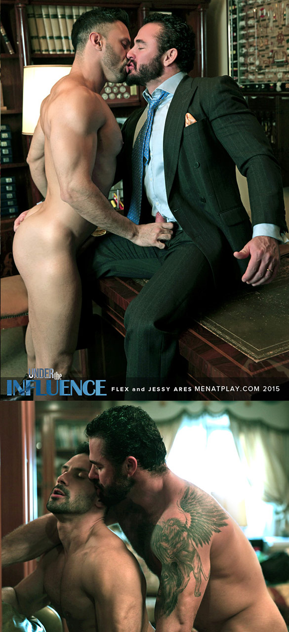 "MenAtPlay: Jessy Ares pounds Flex Xtremmo in ""Under the Influence"""