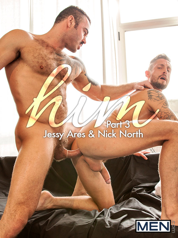 "Men.com: Jessy Ares bangs Nick North in ""Him, Part 3"""