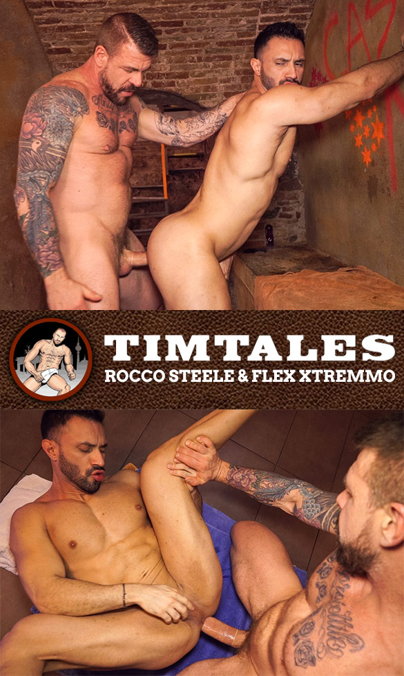 TimTales: Flex Xtremmo rides Rocco Steele's big cock