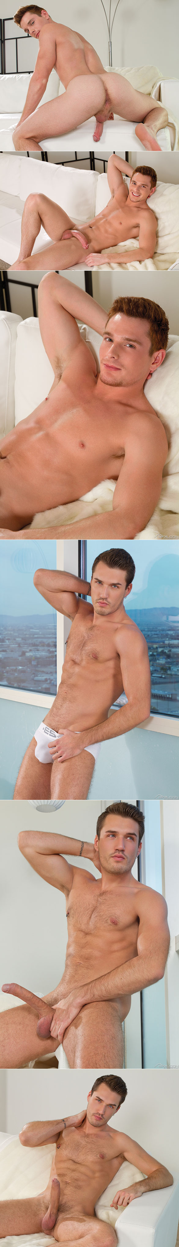 """Falcon Studios: Brent Corrigan rides Theo Ford in """"Moving Up"""""""