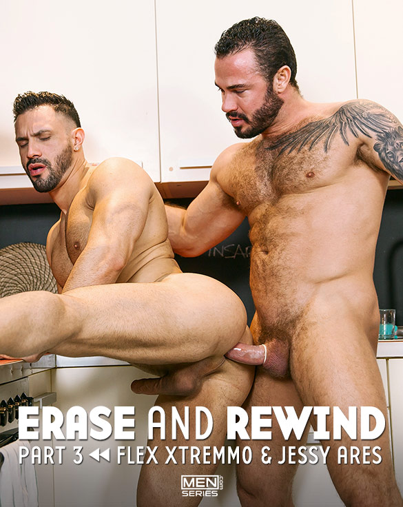 "Men.com: Jessy Ares pounds Flex Xtremmo in ""Erase and Rewind, Part 3"""