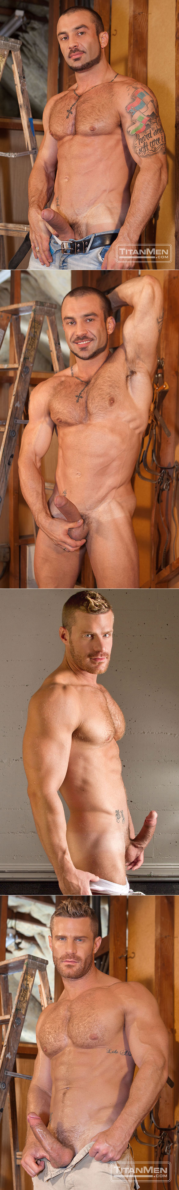 "TitanMen: Landon Conrad bottoms for George Ce in ""Hard at Work"""