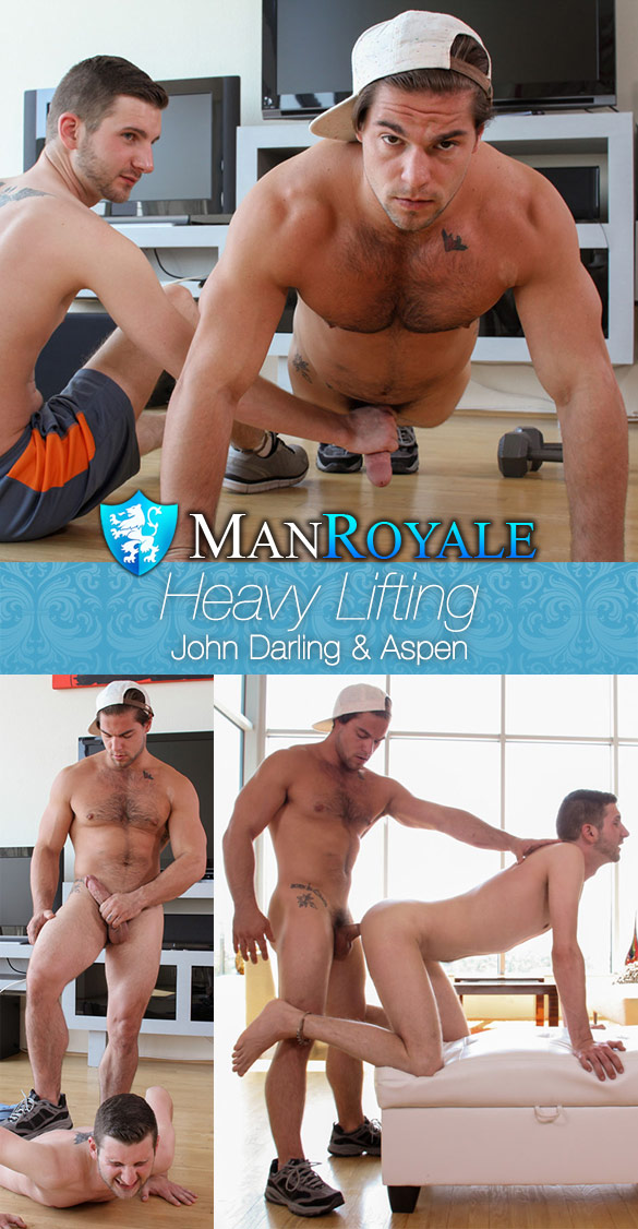 "ManRoyale: Aspen pounds John Darling in ""Heavy Lifting"""