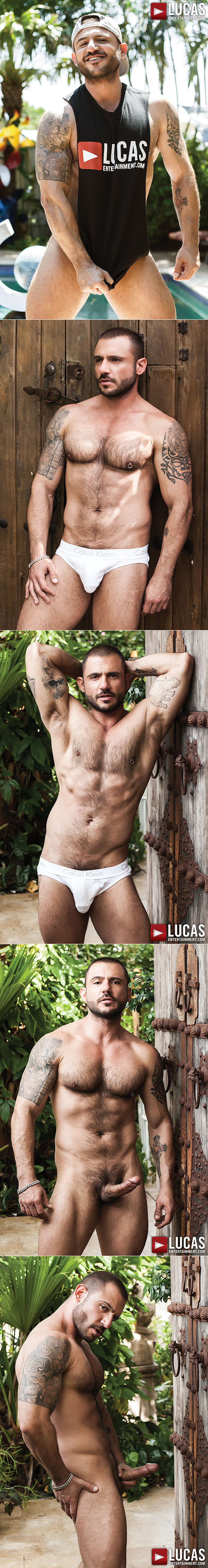 Lucas Entertainment: Sean Duran's bareback sex premiere with Pedro Andreas