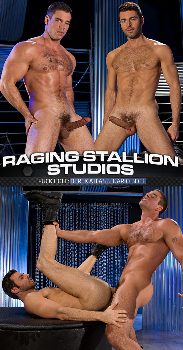 "Raging Stallion: Dario Beck gets pounded by Derek Atlas in ""Fuck Hole"""