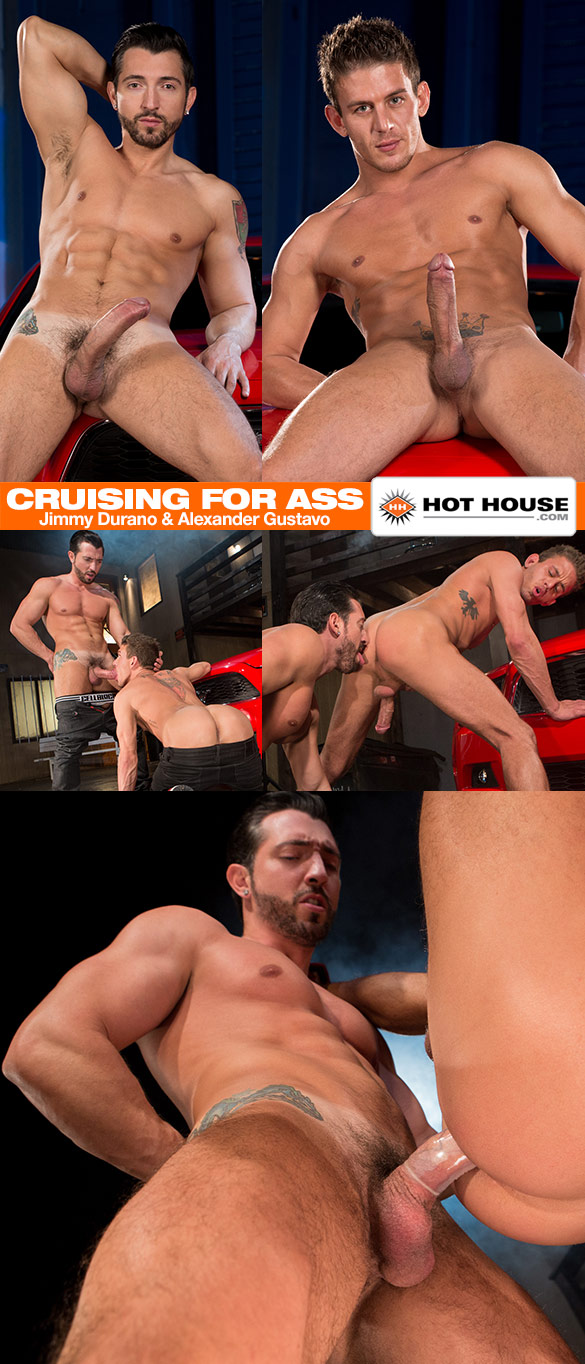 """HotHouse: Jimmy Durano pounds Alexander Gustavo in """"Cruising for Ass"""""""