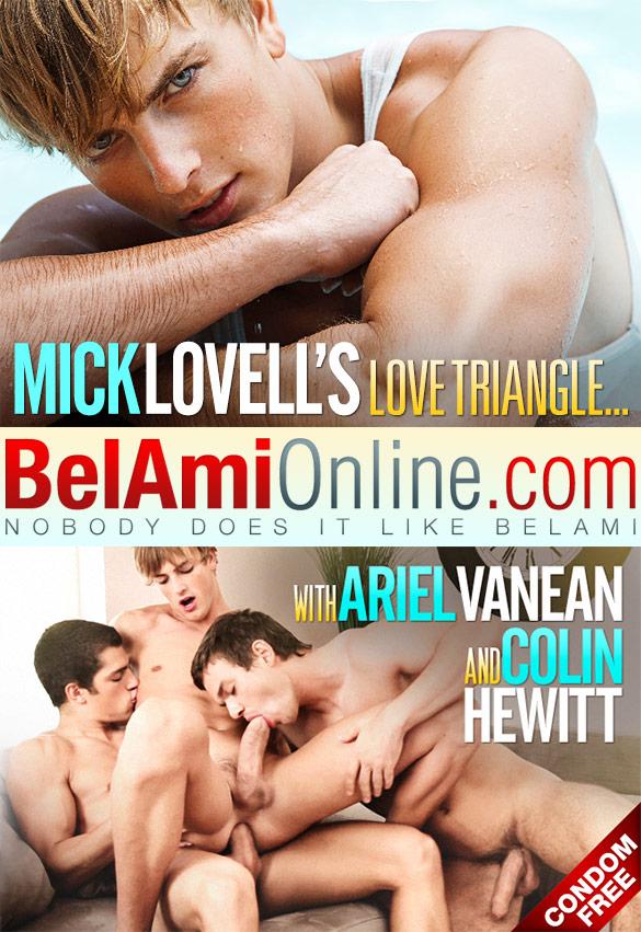 BelAmi: Ariel Vanean, Colin Hewitt and Mick Lovell's bareback threeway