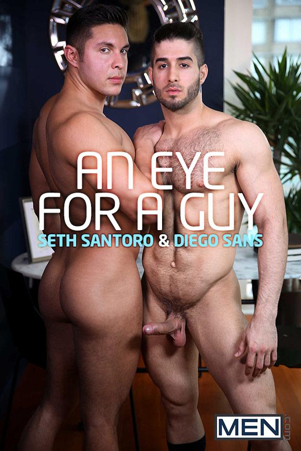 """Men.com: Diego Sans fucks Seth Santoro in """"An Eye for a Guy"""""""
