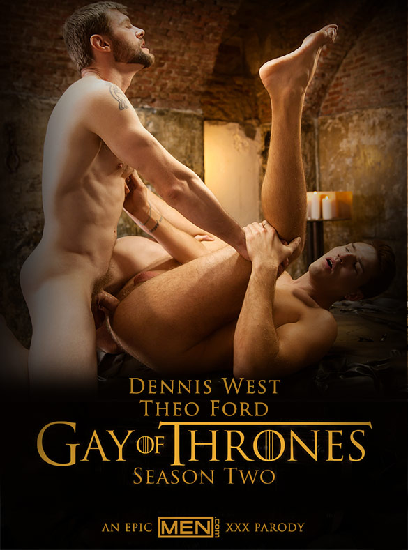 "Men.com: Dennis West fucks Theo Ford in ""Gay of Thrones, Part 8"""