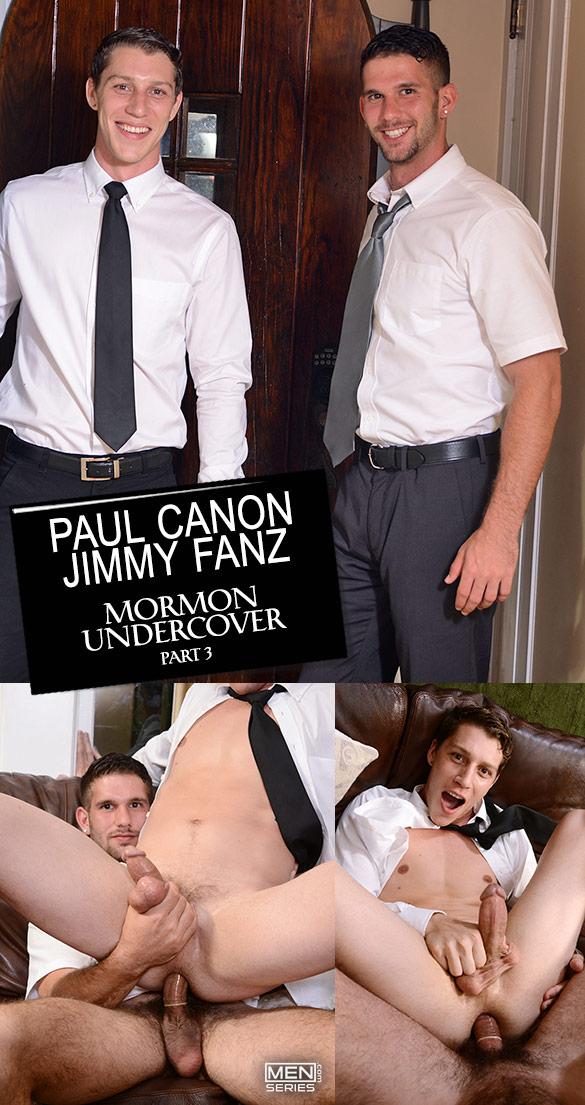 """Men.com: Jimmy Fanz fucks Paul Canon in """"Mormon Undercover, Part 3"""""""