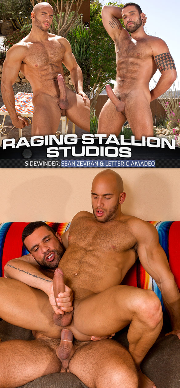 "Raging Stallion: Sean Zevran bottoms for Letterio Amadeo in ""Sidewinder"""