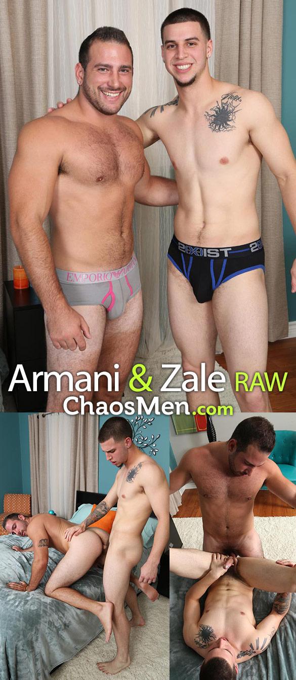 ChaosMen: Armani and Zale flip fuck bareback
