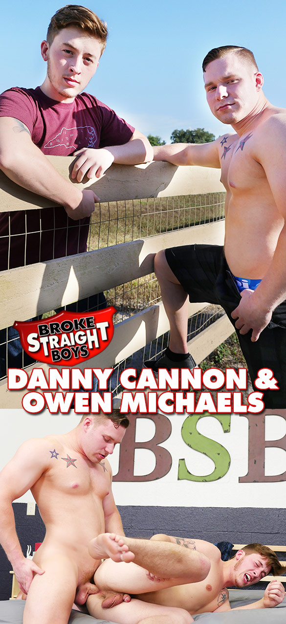Broke Straight Boys: Owen Michaels barebacks Danny Cannon