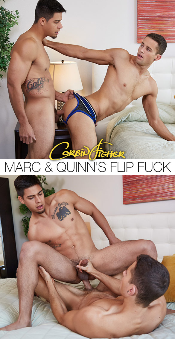 Corbin Fisher: Marc and Quinn fuck each other bareback