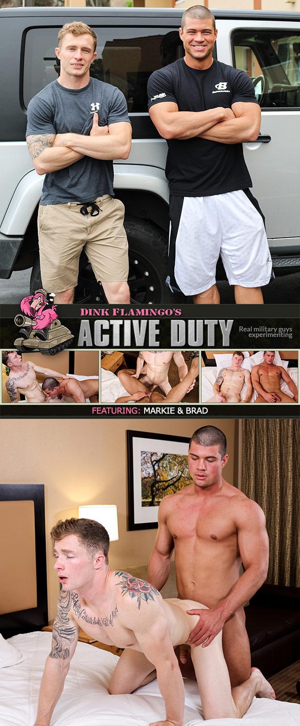 ActiveDuty: Brad and Markie More flip fuck bareback