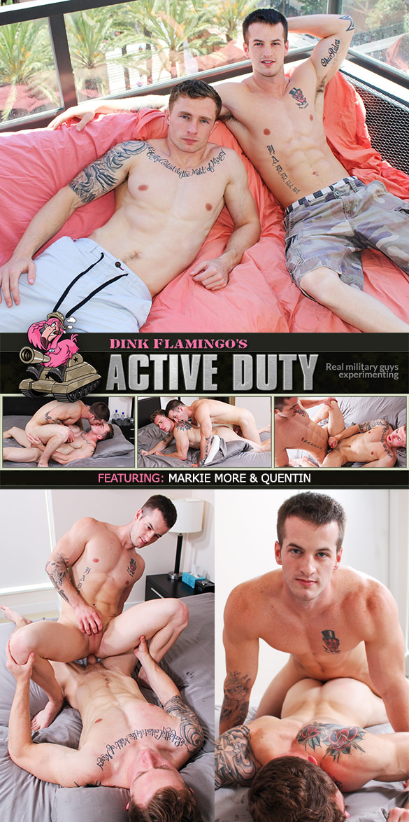ActiveDuty: Markie More and Quentin flip fuck raw
