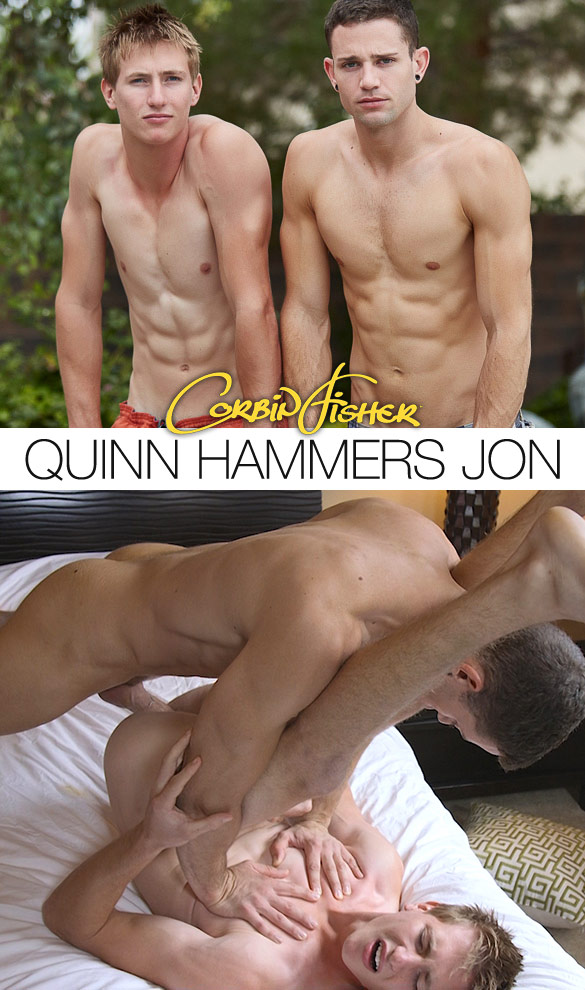 Corbin Fisher: Quinn barebacks Jon