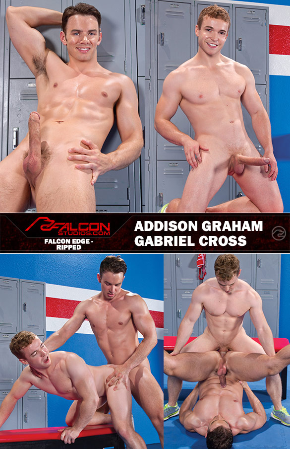 """Falcon Studios: Addison Graham and Gabriel Cross bang each other in """"Ripped"""""""
