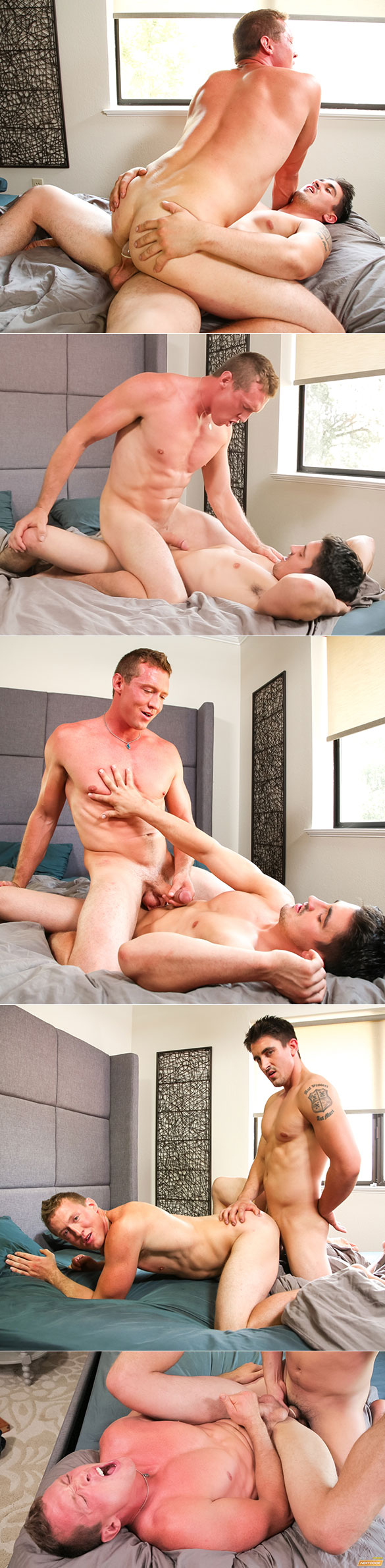 "Next Door Studios: Derrick Dime fucks Pierce Hartman in ""The Reunion: Arousing Faith"""