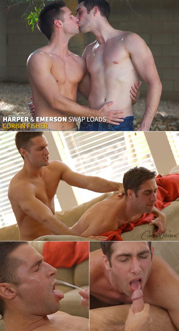 Corbin Fisher: Harper barebacks Emerson