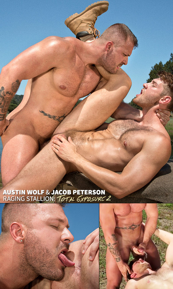 "Raging Stallion: Austin Wolf fucks Jacob Peterson in ""Total Exposure 2"""