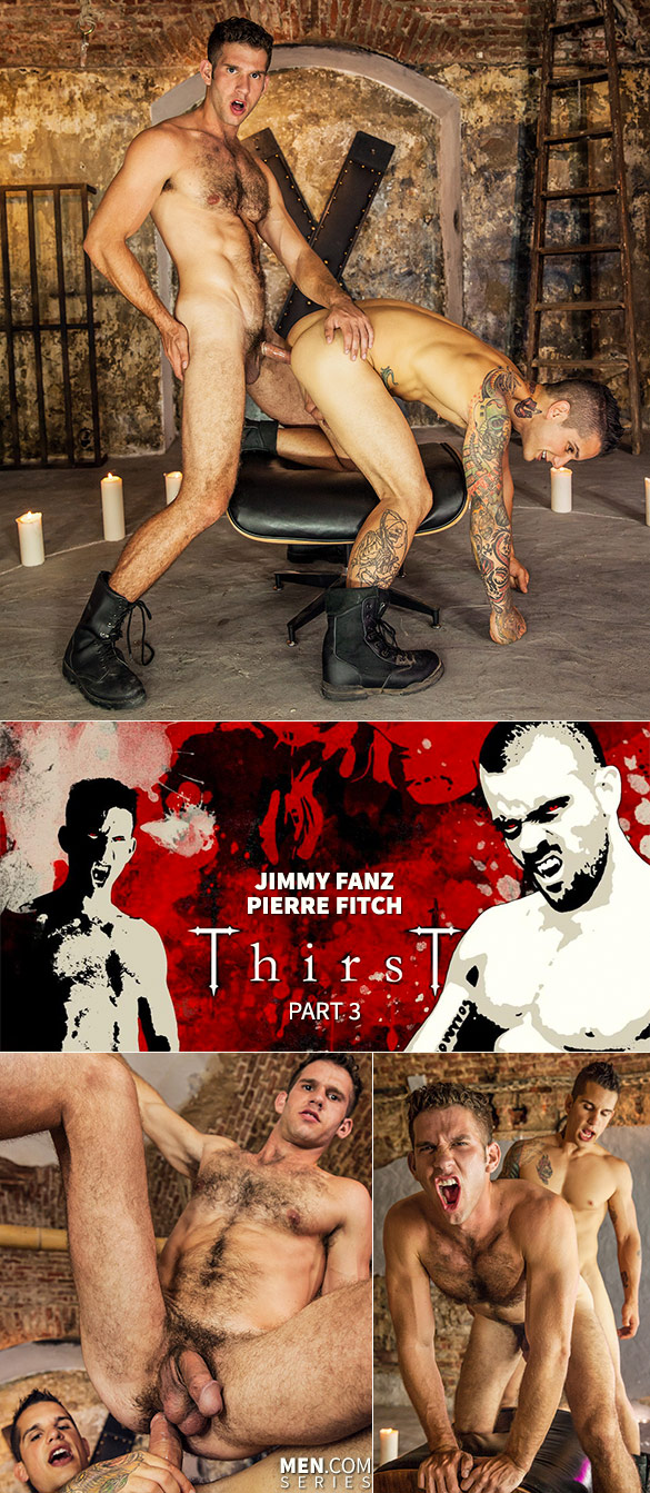 "Men.com: Jimmy Fanz and Pierre Fitch flip fuck in ""Thrist, Part 3"""