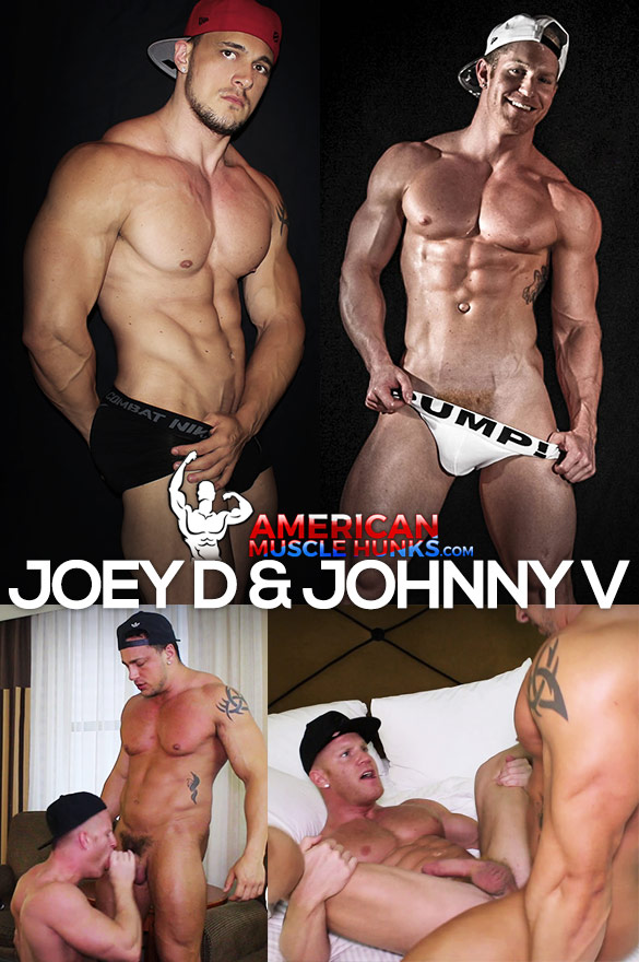 American Muscle Hunks: Joey D pounds Johnny V