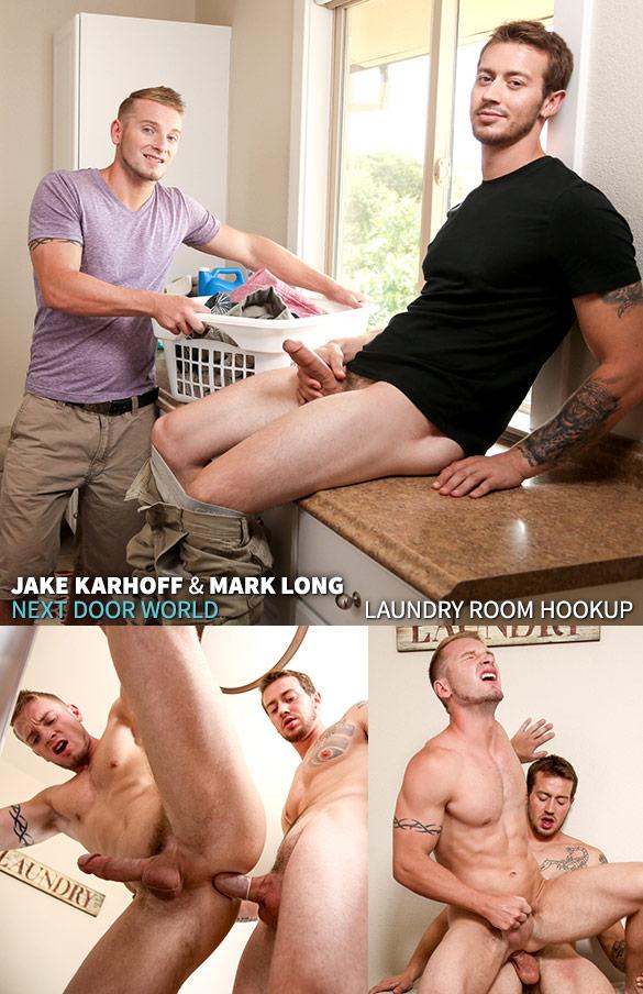 """Next Door Studios: Mark Long fucks Jake Karhoff in """"Laundry Room Hookup"""""""