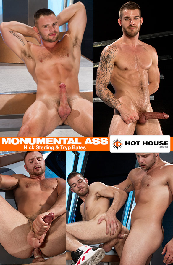 """HotHouse: Nick Sterling and Tryp Bates flip fuck in """"Monumental Ass"""""""