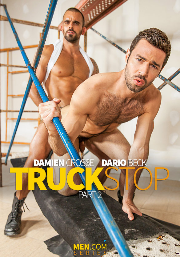 "Men.com: Damien Crosse pounds Dario Beck in ""Truck Stop, Part 2"""