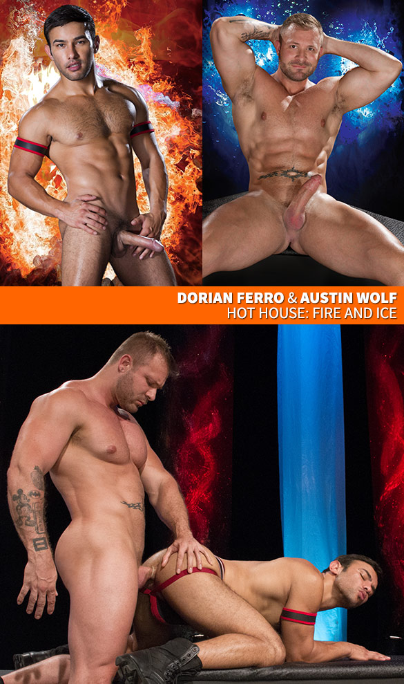 """HotHouse: Austin Wolf bangs Dorian Ferro in """"Fire and Ice"""""""
