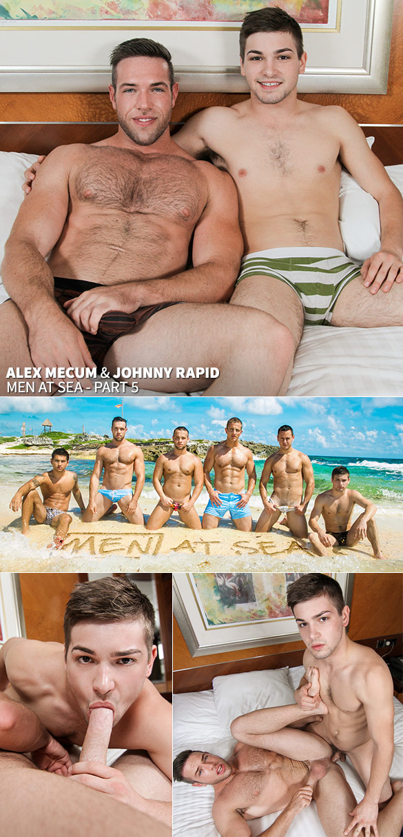 "Men.com: Johnny Rapid fucks Alex Mecum in ""Men at Sea, Part 5"""