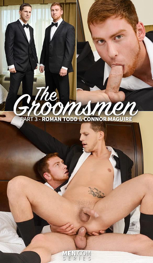 "Men.com: Connor Maguire fucks Roman Todd in ""The Groomsmen, Part 3"""