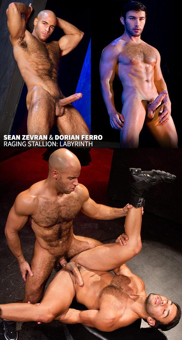 "Raging Stallion: Sean Zevran bangs Dorian Ferro in ""Labyrinth"""