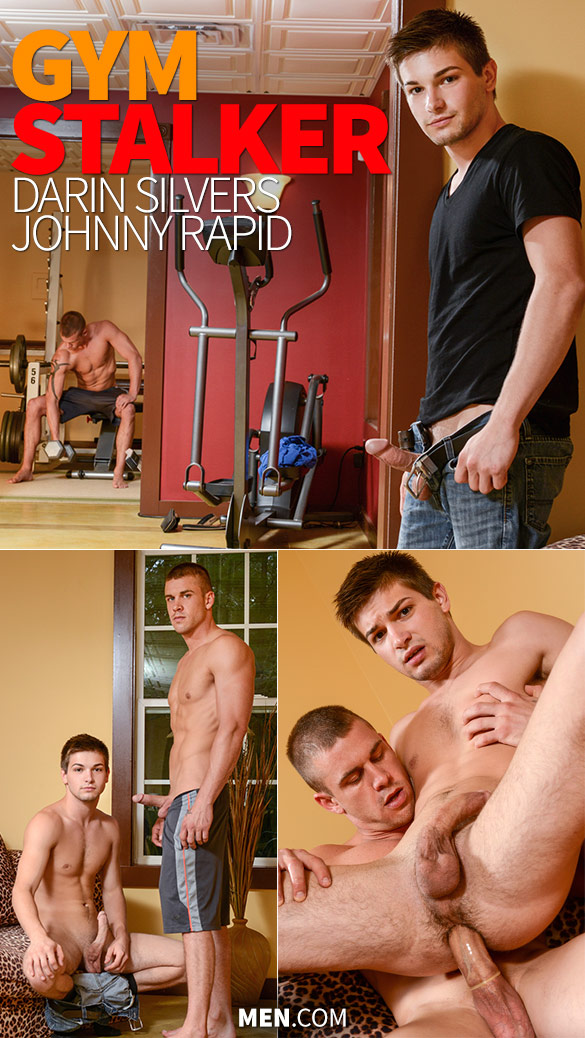 "Men.com: Darin Silvers pounds Johnny Rapid in ""Gym Stalker"""