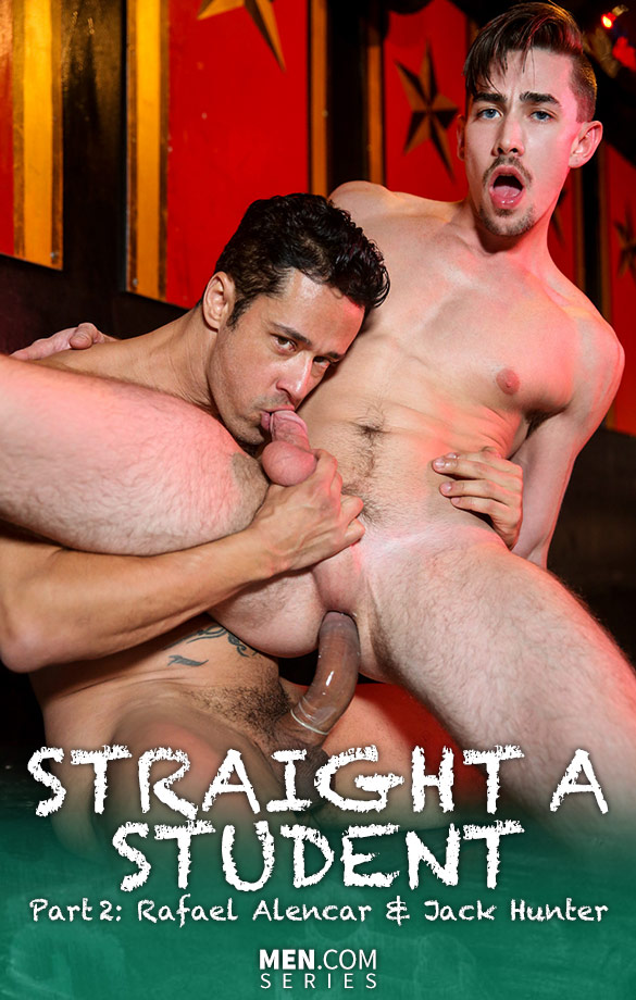 "Men.com: Rafael Alencar bangs Jack Hunter in ""Straight A Student, Part 2"""