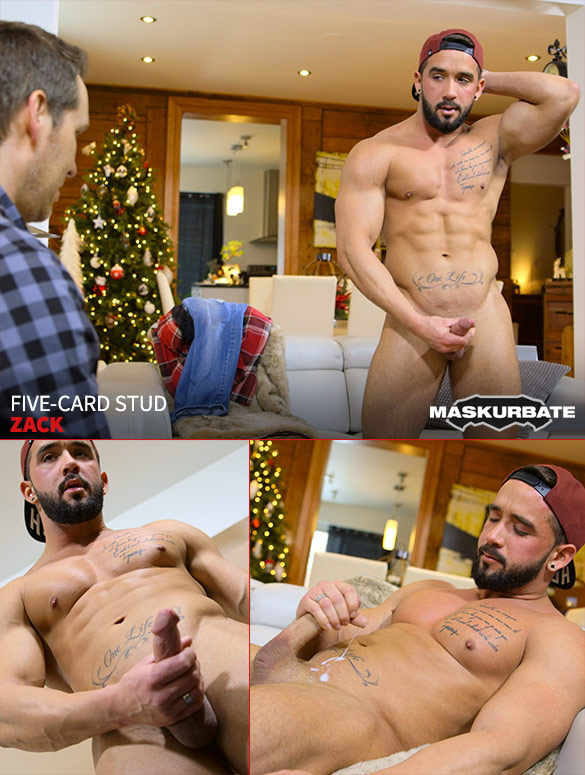 """Maskurbate: Zack rubs one out in """"Five-Card Stud"""""""