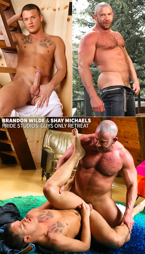 "Pride Studios: Shay Michaels bangs Brandon Wilde in ""Guys Only Retreat"""