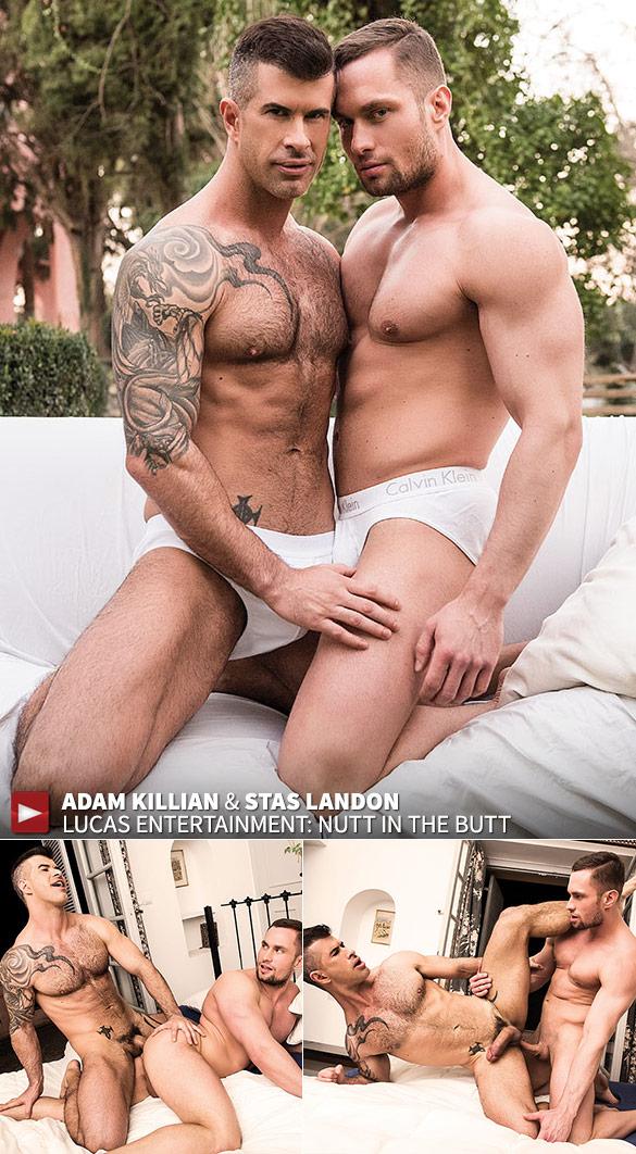 """Lucas Entertainment: Adam Killian breaks In Stas Landon in """"Nutt In The Butt"""""""