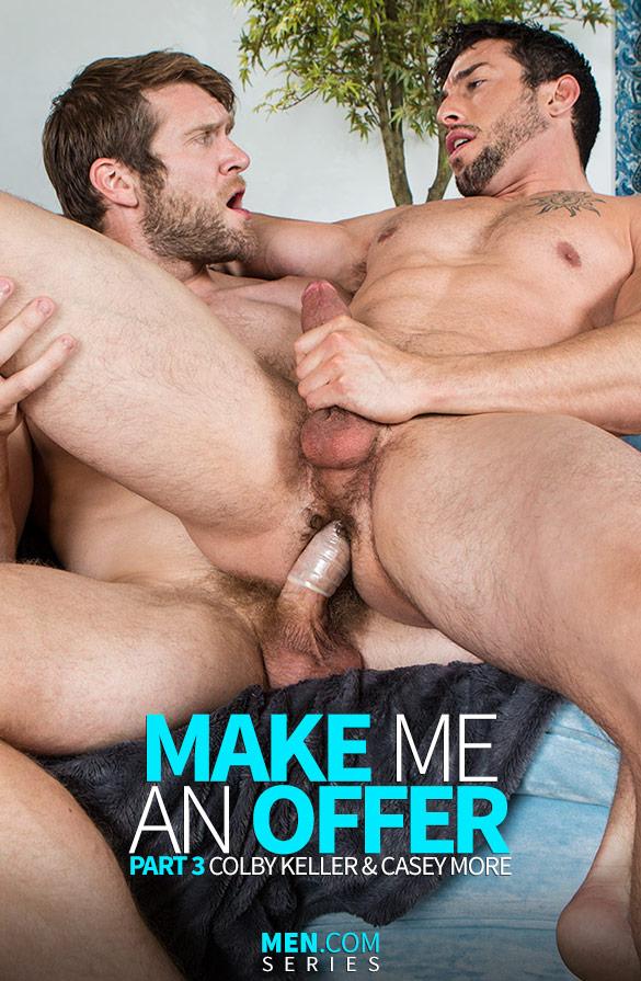 """Men.com: Colby Keller fucks Casey More in """"Make Me an Offer, Part 3"""""""
