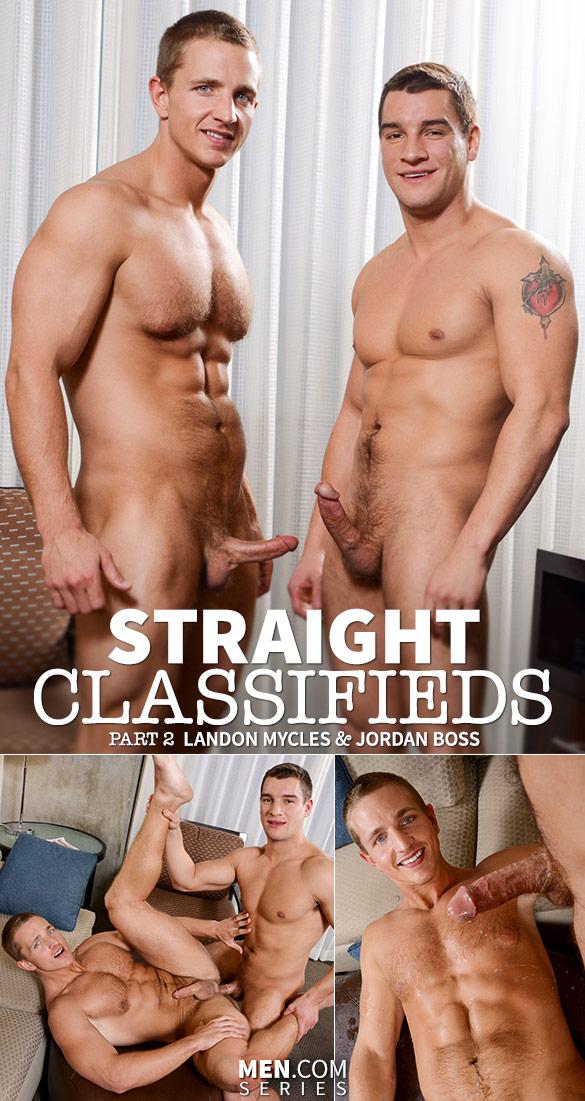 """Men.com: Jordan Boss bangs Landon Mycles in """"Straight Classifieds, Part 2"""""""
