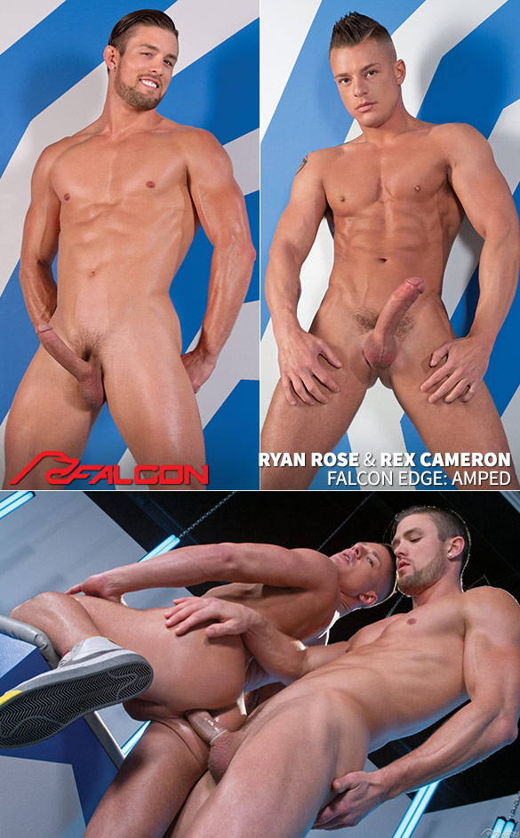 """Falcon Studios: Rex Cameron gets pounded by Ryan Rose in """"Amped"""""""