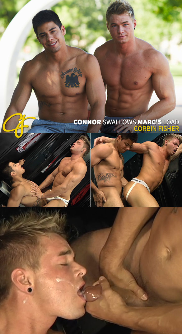 Corbin Fisher: Marc barebacks Connor