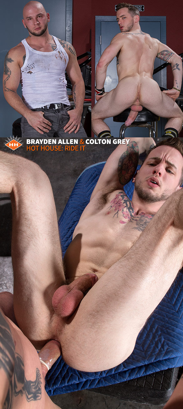 "HotHouse: Colton Grey and Brayden Allen flip fuck in ""Ride It"""