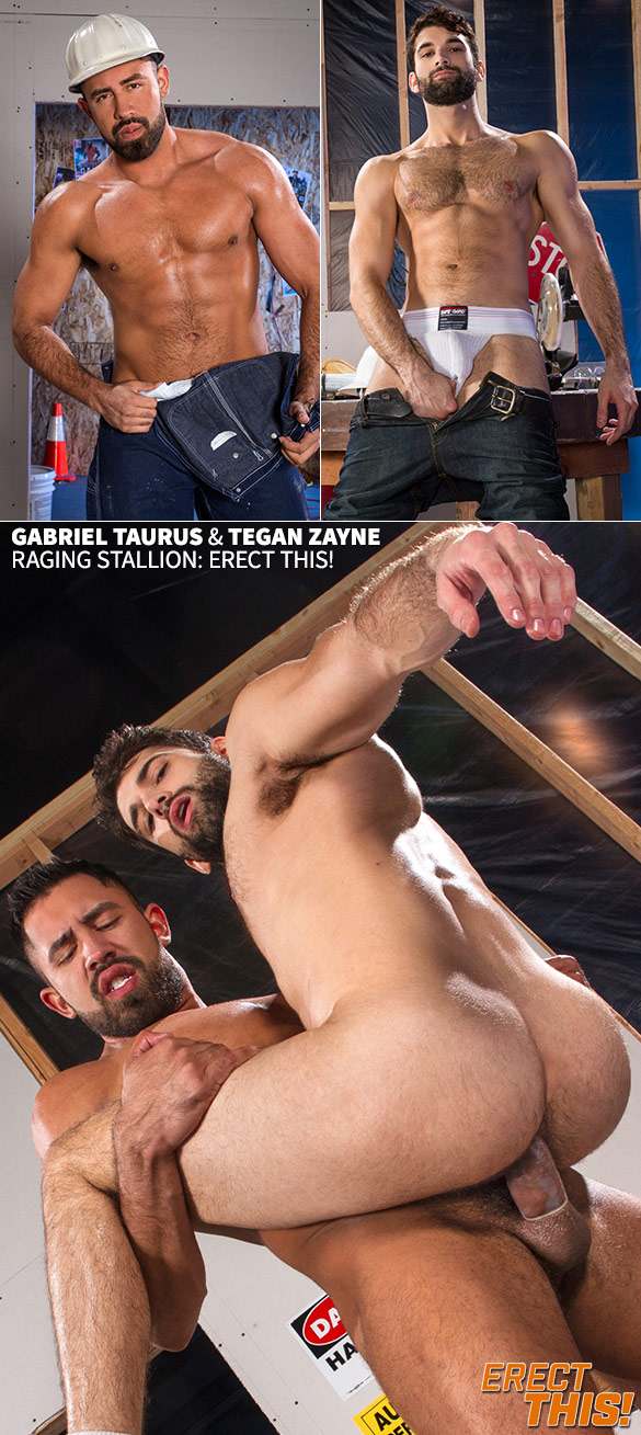 "Raging Stallion: Gabriel Taurus bangs Tegan Zayne in ""Erect This!"""